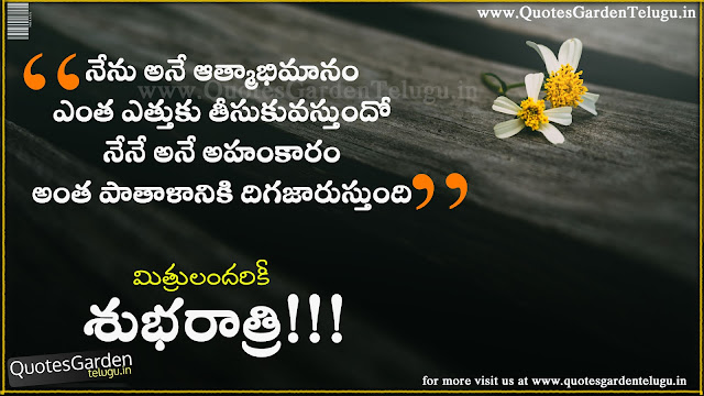 Beautiful telugu good night quotes about change and ego