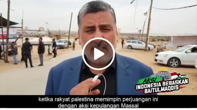Syekh Ahmad dari perbatasan Gaza Mengapresiasi Aksi Bela Pelestina di Indonesia