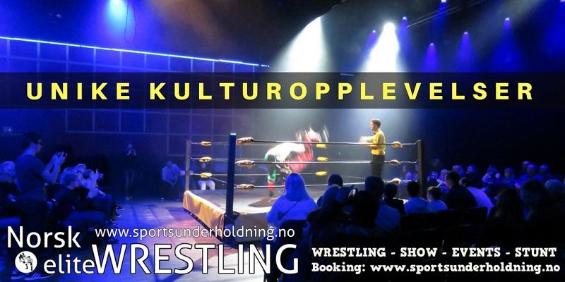 Norsk wrestling. Kultur, underholdning. Artister, entertainere. Artistbooking, booking. Show i Norge. Foto.