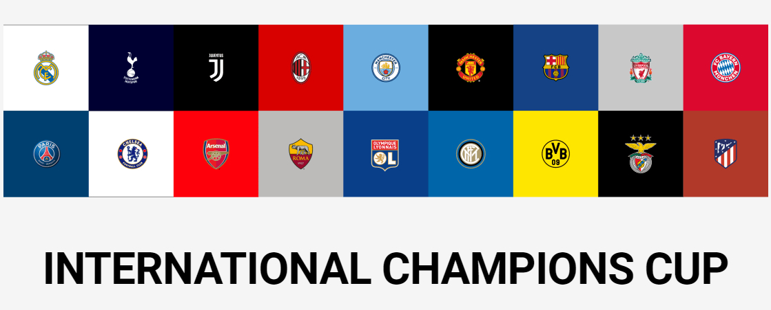 Calendario Partite Champions.International Champions Cup 2018 Calendario Partite