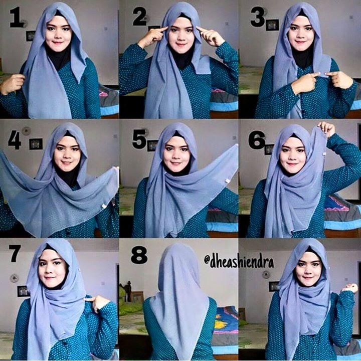 Cara Memakai Jilbab Segi Empat Sederhana Dan Simpel Tetep Cantik Tutorial Hijab Terkenal