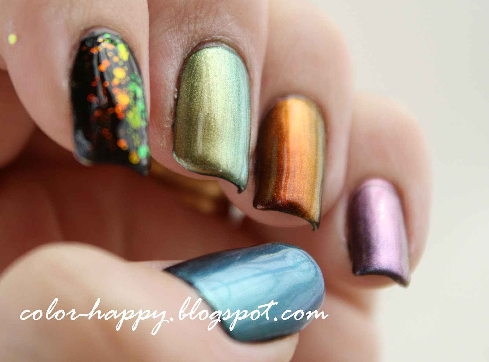 Color Happy Nails Day 22 Redux And Duochrome Swatches