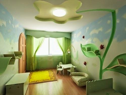 chambre-enfant-verte