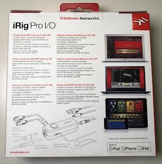 Rückseite der iRig Pro Verpackung
