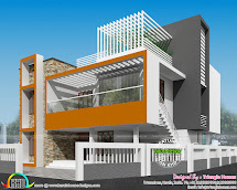 Model House Contemporary Remodeling - Kerala Home