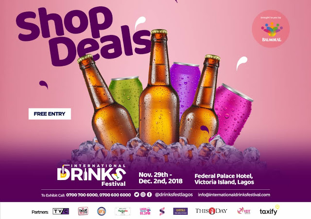 Kickstart the Festive Season at the International Drinks Festival ? Nov 29th to December 2nd