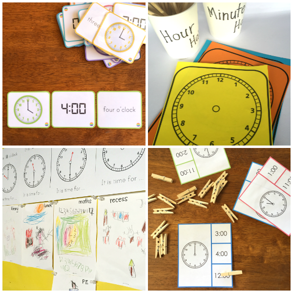 Telling Time Pack - teaching ideas, editable clock face cards, printable resources for whole class instructional time or small group math centres, pre-assessment and assessment work included | you clever monkey