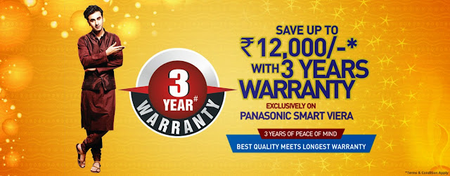 Panasonic Diwali Offers 2013 on Viera TV & Audio System