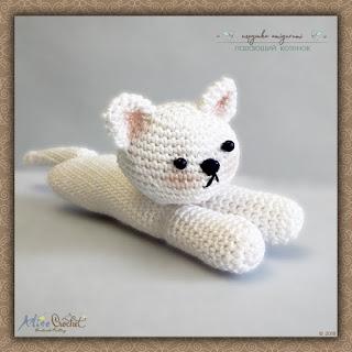 Amigurumi: Падающий котенок вязаная игрушка