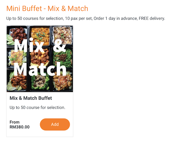 Mix & Match Buffet