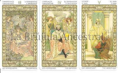 Tarot de la Armonía - Emperatriz - Emperador - Papa