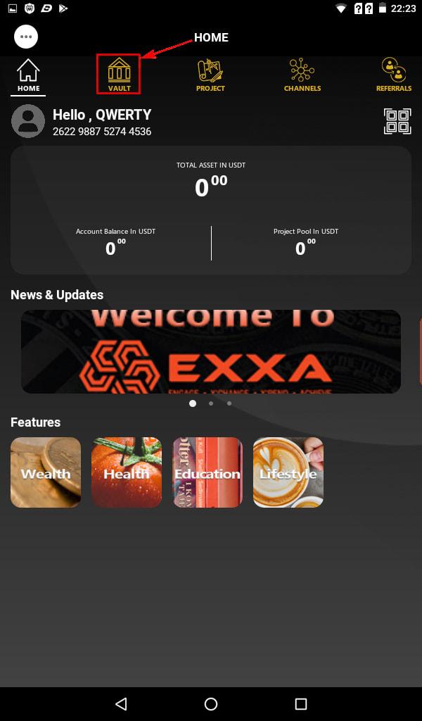 Создание депозита в EXXA Network