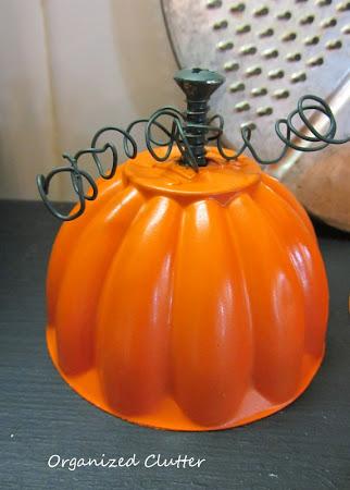 Re-purposed Jello Mold Pumpkins