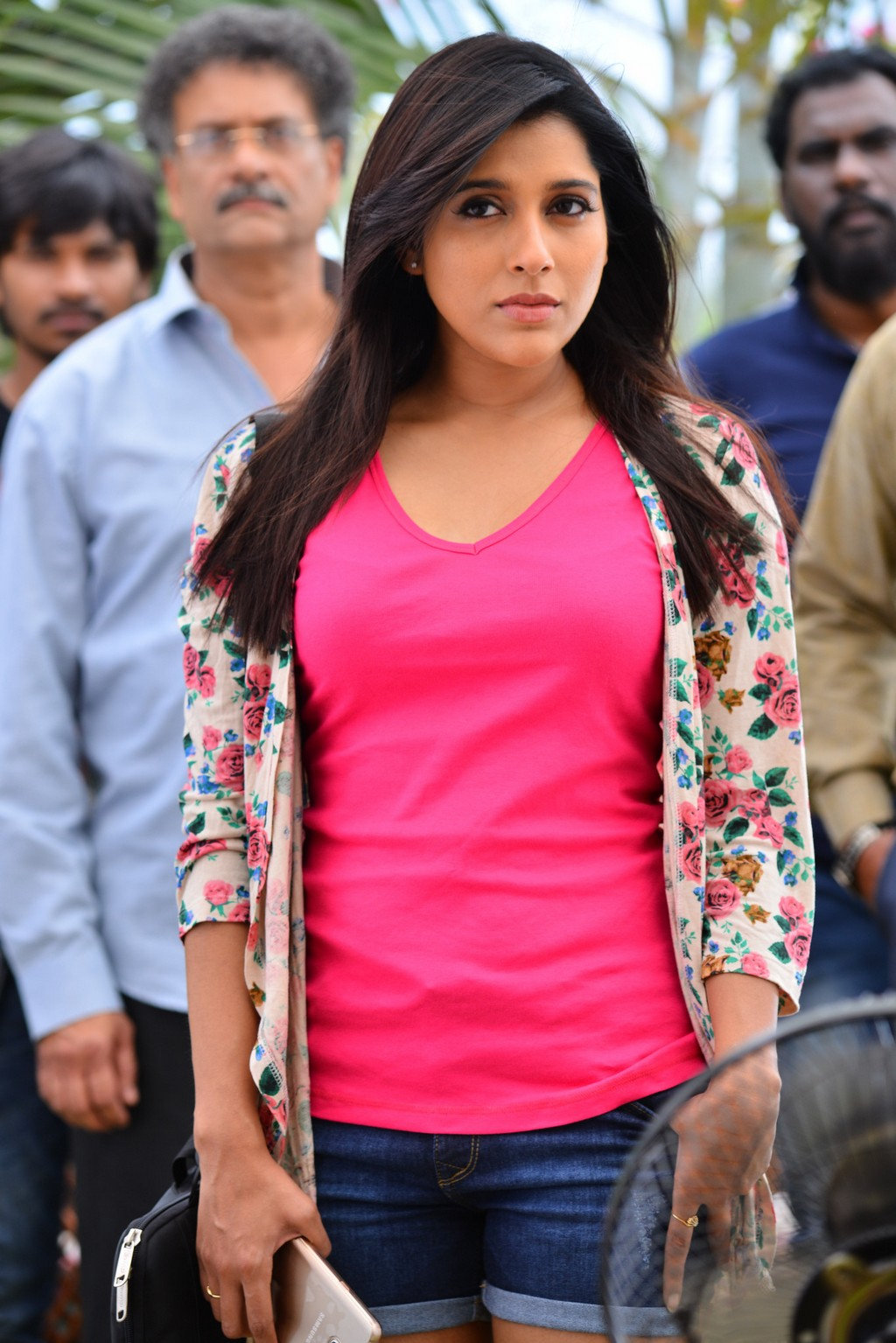 Indian TV Anchor Rashmi Gautam Long Hair Hot Looking Face Stills In Pink Dress