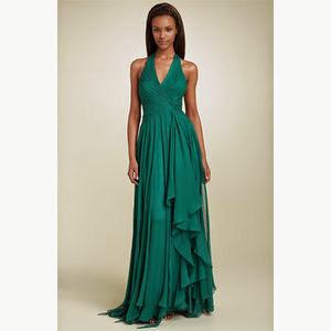 vestido para madrinha de casamento verde - foto