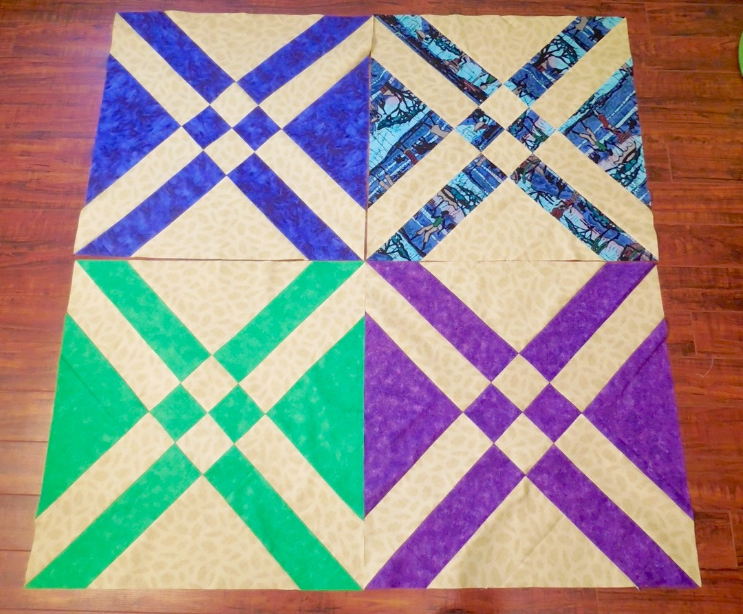 Large Square Block Quilt Patterns : QUILTERS...ENJOY COLOR! : Mega Puzzle Quilt Tutorial