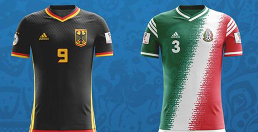 2a7c7005d ... football kits for all 32 teams participating in the 2018 World Cup -  some of them definitely able to take on the actual home colors used by  these teams.