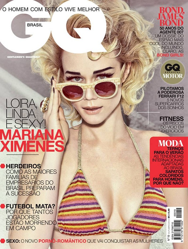 Mariana Ximenes poses for GQ Brazil October 2012