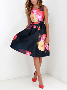 www.shein.com/Multicolor-Sleeveless-Floral-Flare-Dress-p-242890-cat-1727.html?aff_id=2525