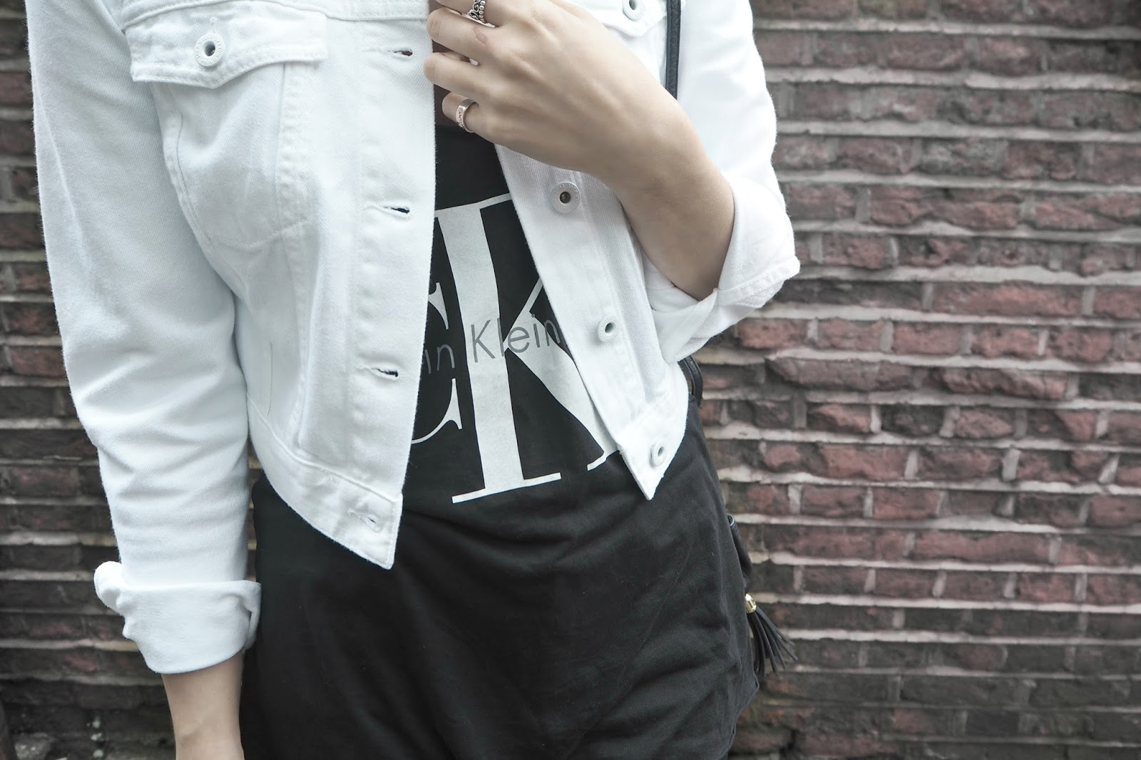 cropped white denim jacket styling