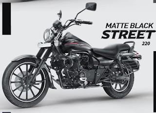 Bajaj Avenger street 220 Matte Black color