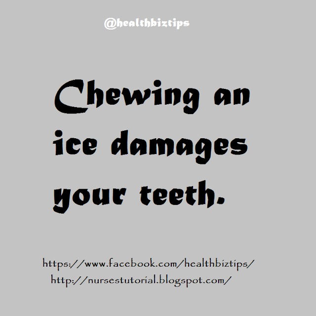 Chewing an ice damages your teeth.