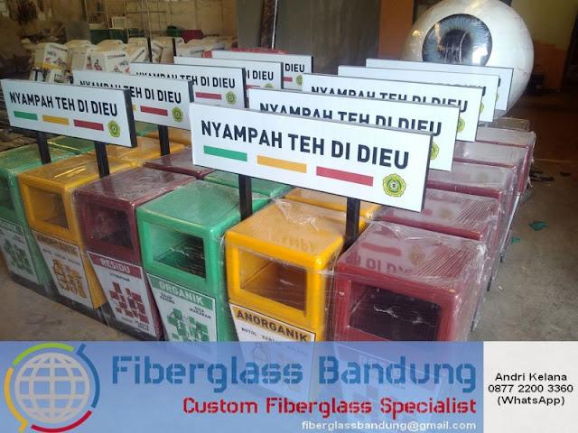 tong sampah fiber 3 pilah