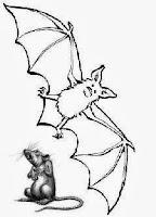 gambar tikus dan kelelawar lucu