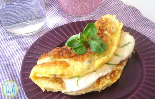 Tortilla de berberechos con mozarella