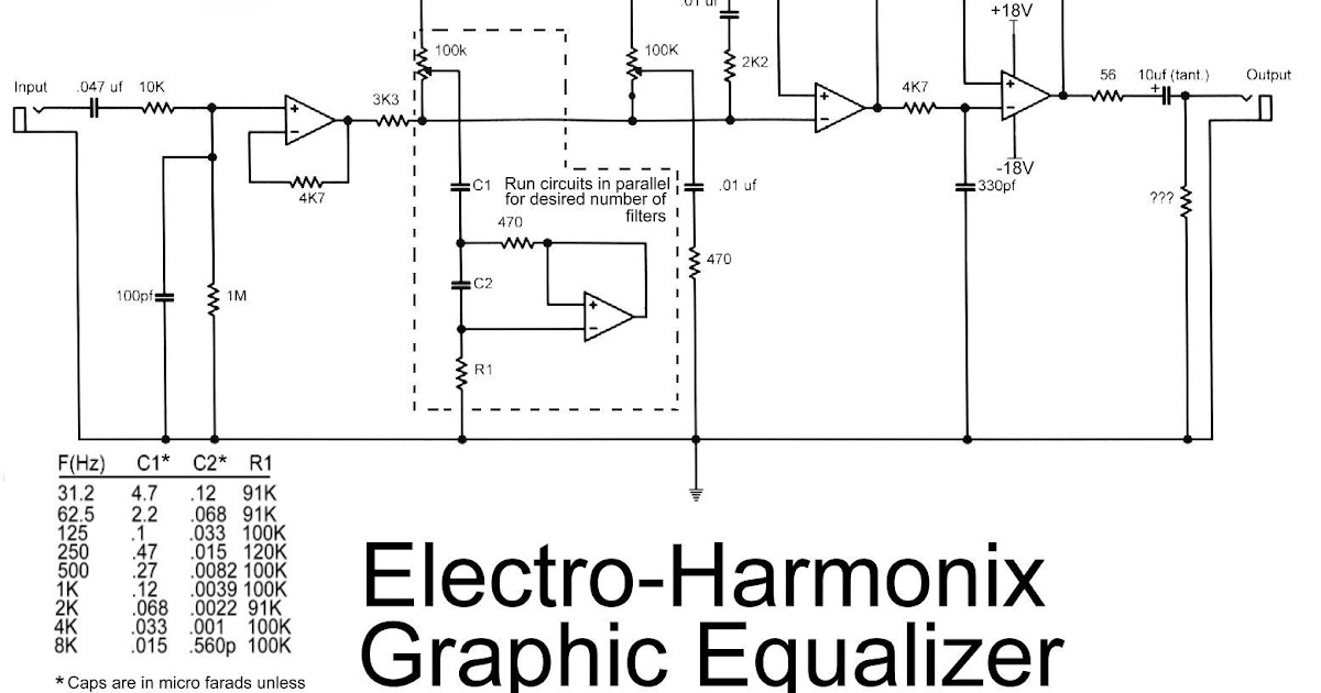 latest Electro Harmonix Graphic Equalizer circuit