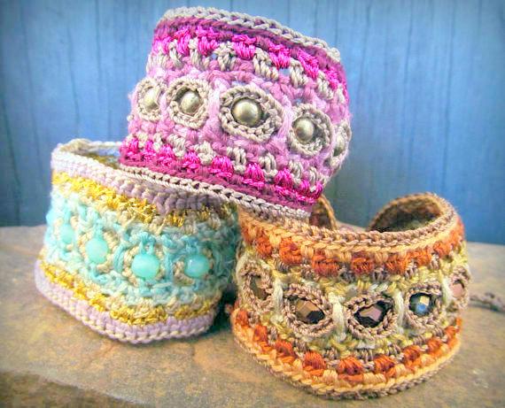 bracelet crochet pattern crochet jewellery