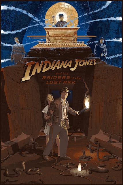 Indiana Jones and the Raiders of the Lost Ark 35th Anniversary Screen Print by Laurent Durieux & Bottleneck Gallery