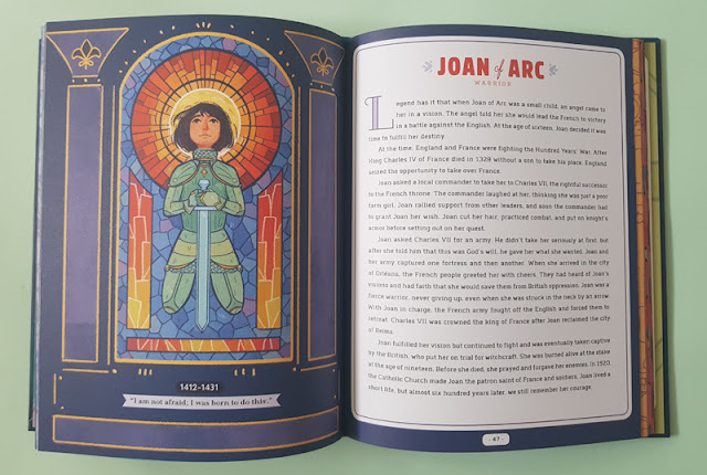 The story of Joan of Arc in the Never too Young! children's book
