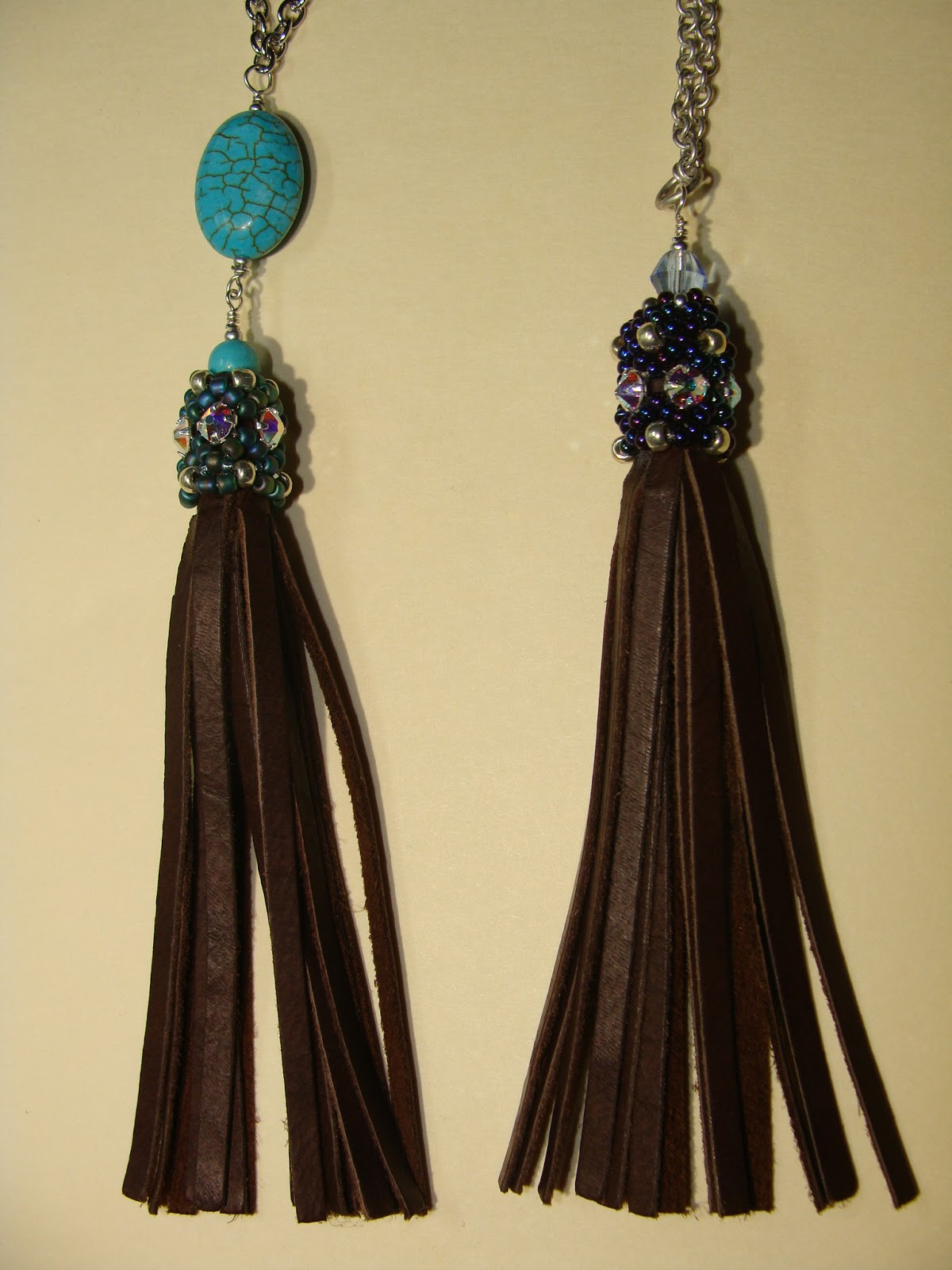 Beaded Girl How To Make A Beaded Cap And Leather Tassel