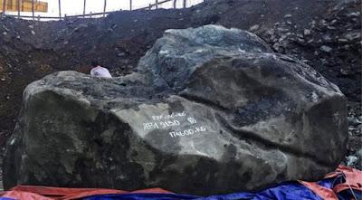 la roca de jadeita mas grande que se ha encontrado