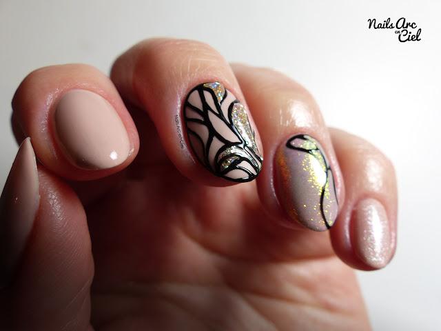 Nail Art - Effet vitrail mat et brillant par Nails Arc en Ciel