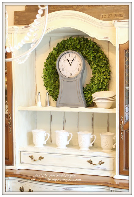 Farmhouse-Faux  Mora Clock-French Country Dining Room- From My Front Porch To Yours