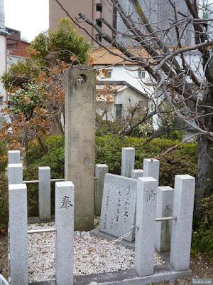 中島惣社松尾芭蕉の句碑
