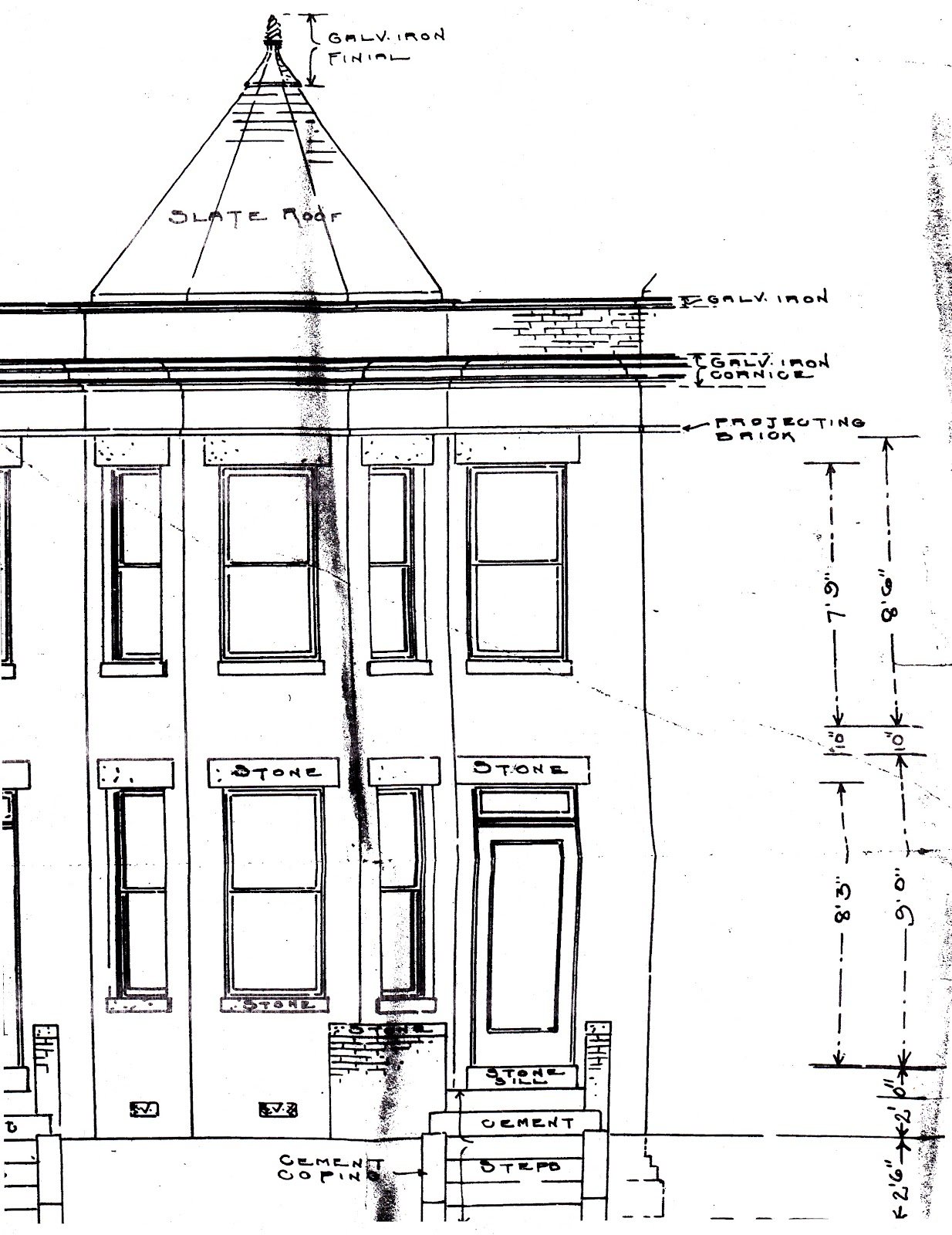 The House History Man DC Building Permits the Rare Original Facade – Draw My House Floor Plan