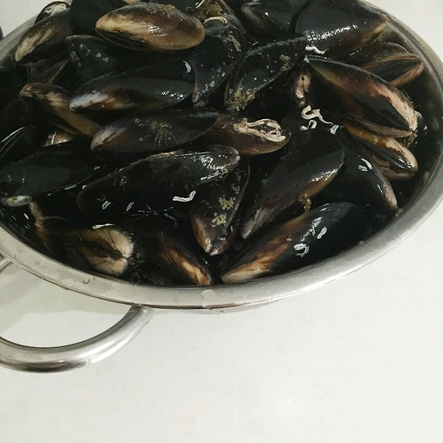 Beautiful mussels from the Belconnen Markets
