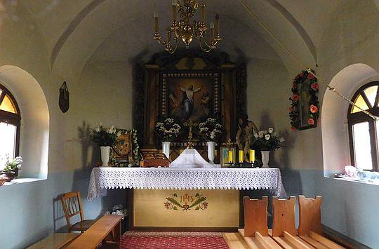 Wnętrze kapliczki Przemieniania Pańskiego.