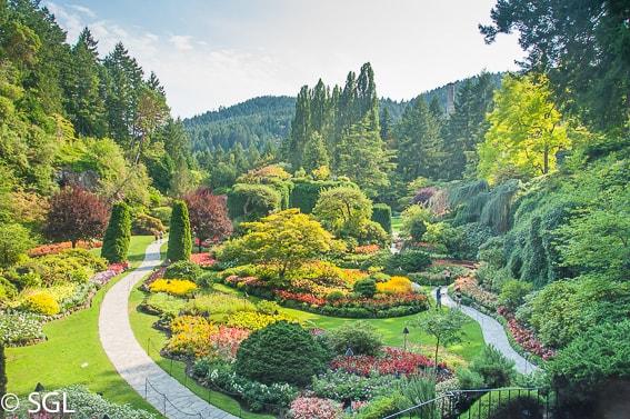 Los jardines Butchart. Canada