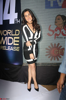 Ananya Soni in a Deep neck white blackl Dress at Shamanthakamani pre release function ~  Exclusive 032.JPG