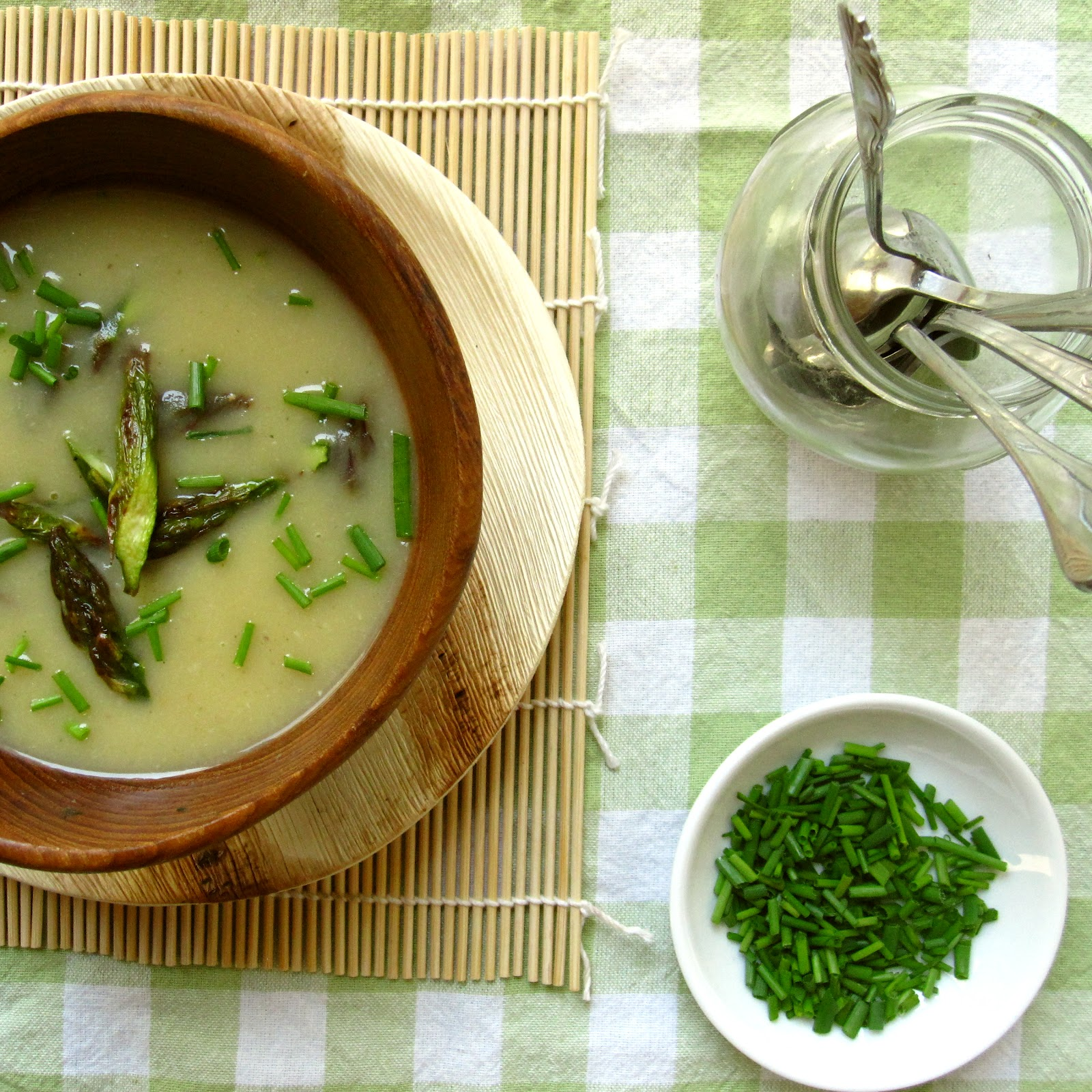 Soup Recipes Asparagus: Edible Biology: Creamy Roasted Asparagus Soup