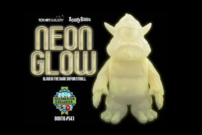 Designer Con 2018 Exclusive Stroll Neon Glow Edition GID Vinyl Figure by Spanky Stokes x Toy Art Gallery