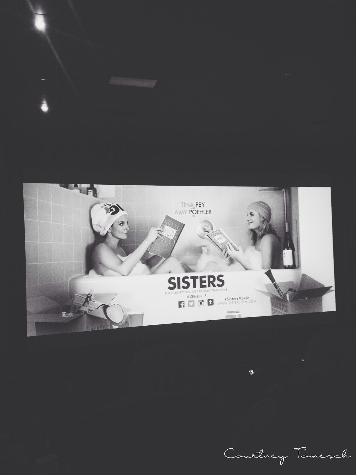 Courtney Tomesch Advance screening Sisters