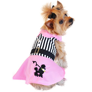 PINK POODLE DESIGNER DOG DRESS