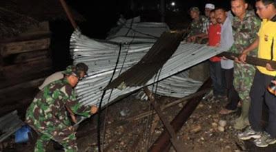 Puting Beliung Terjang Kecamatan Jangka