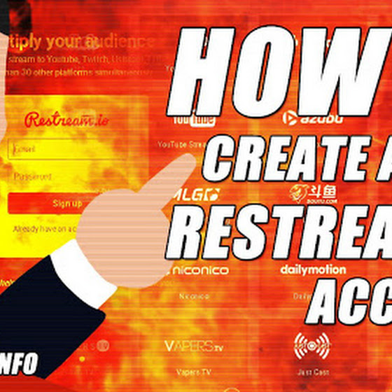 Restream.io Tutorial ★ How To Create A New Restream.io Account