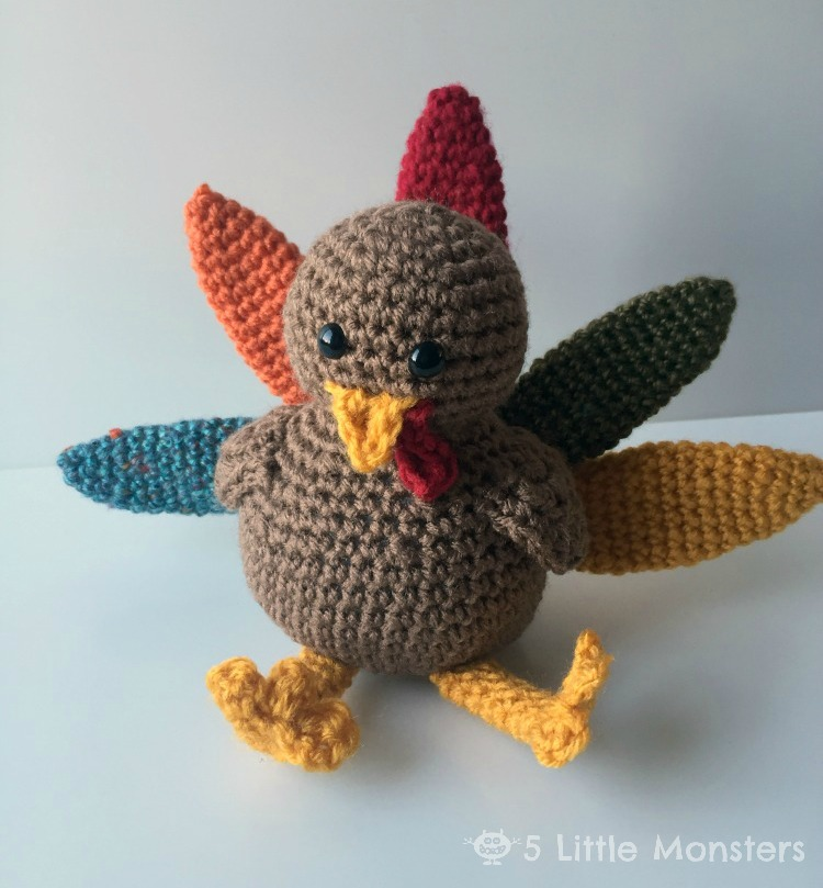Crocheted Turkey For Thanksgiving-Amigurumi